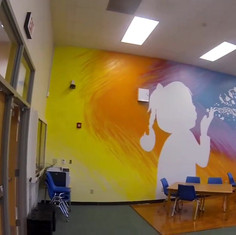 Coop Elementary's Library Mural