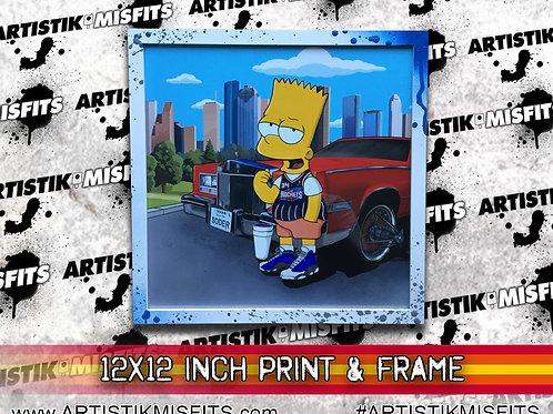 Bart Trill 12 inch Print & Frame