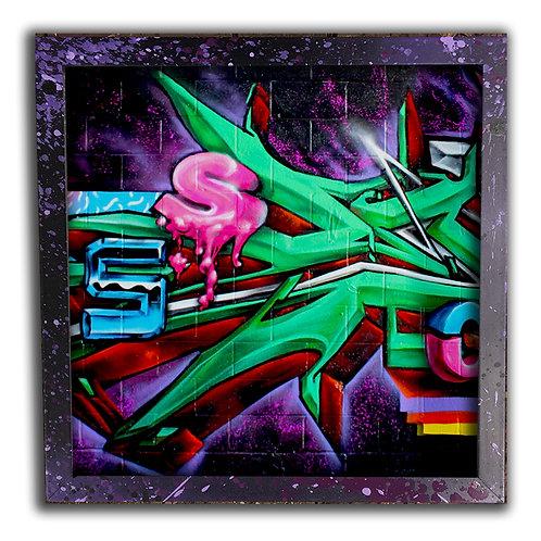 Graffiti Fonts; 12 inch Print & Frame