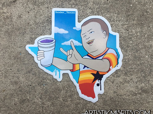 Bobby Trill Texas Sticker