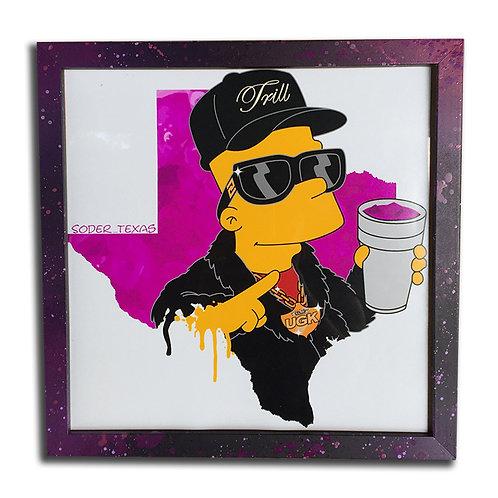 Bart Trill as Pimp C;12 inch Print & Frame