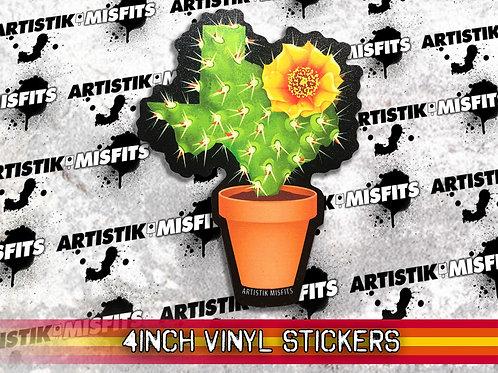 Texas Cactus Sticker