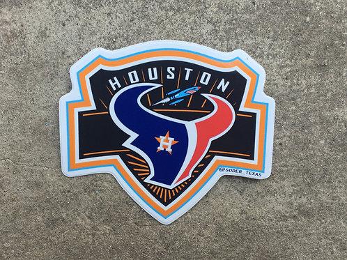 Houston Teams Sticker