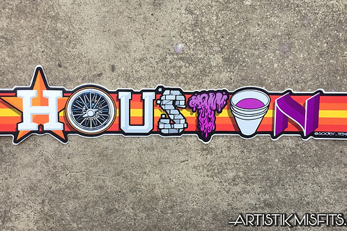 Houston Swang Sticker