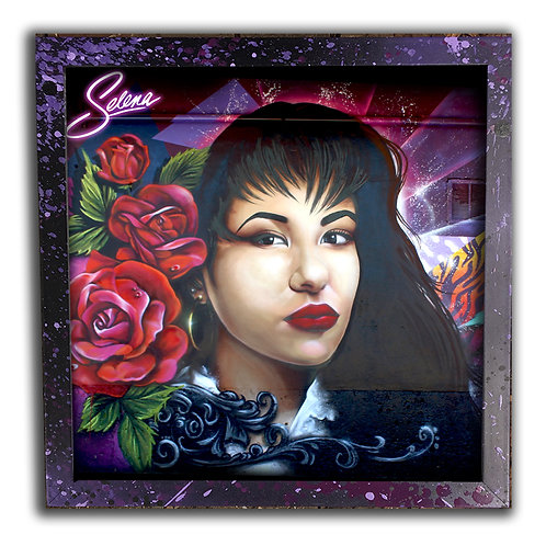 Selena Portrait 12 inch Print & Frame