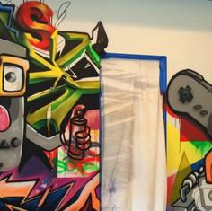 Nintendo Graffiti Mural