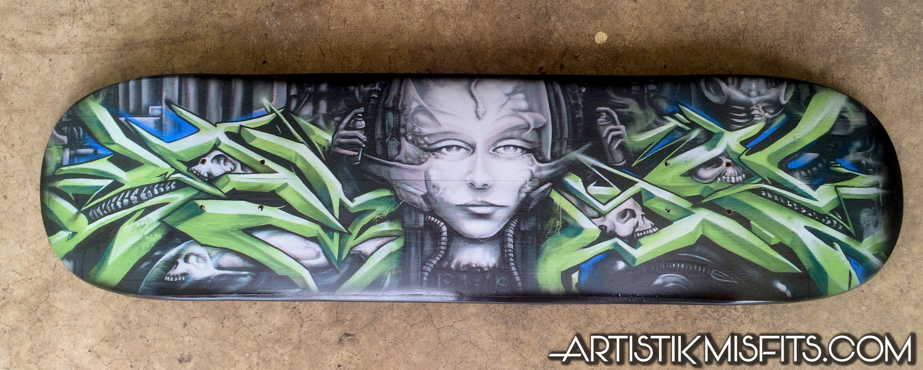 Giger Tribute Skateboard
