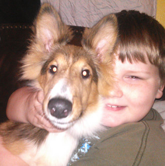 Family dog with Kid