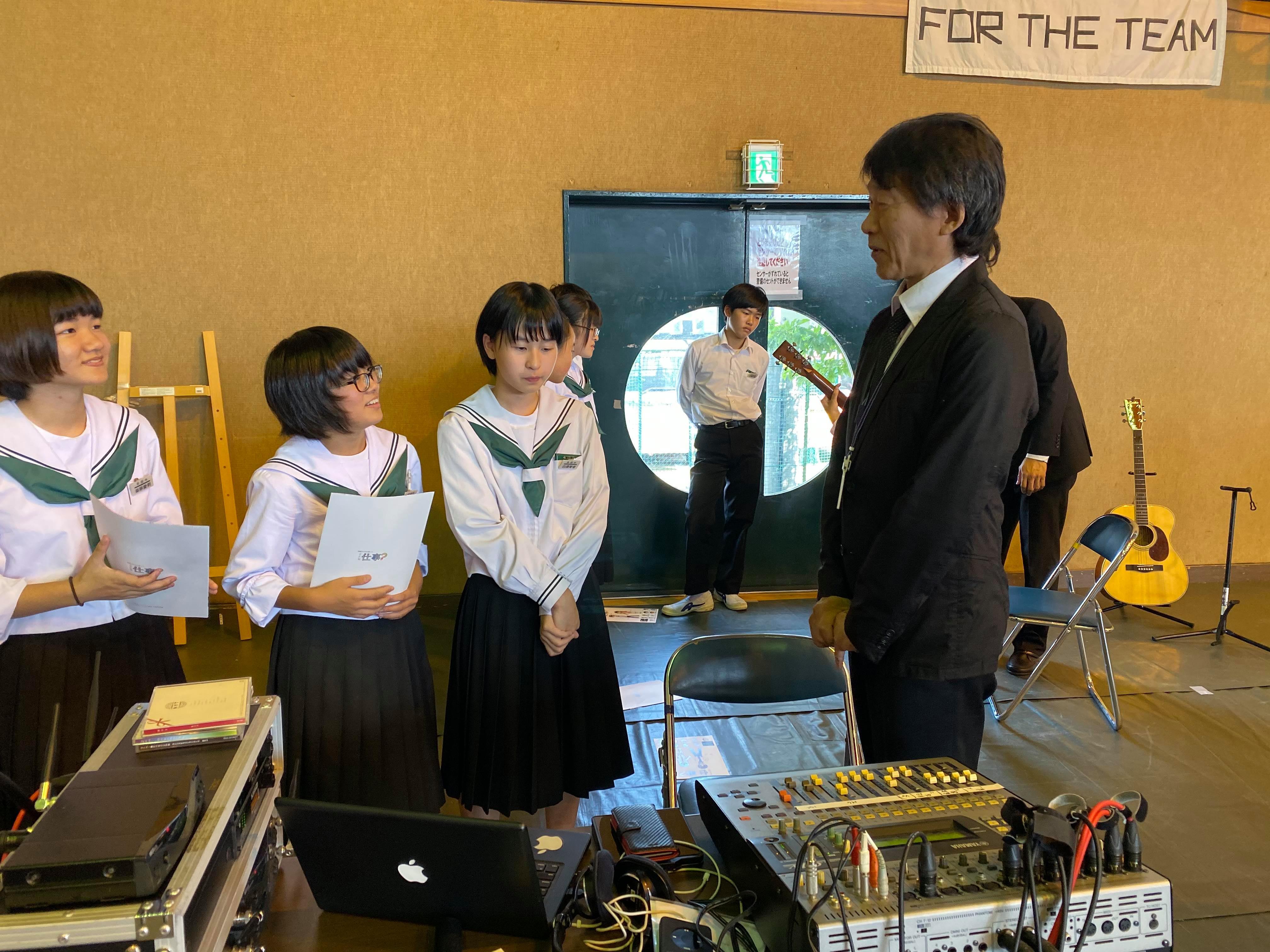 吉田中学校 学校ウエディング授業-10