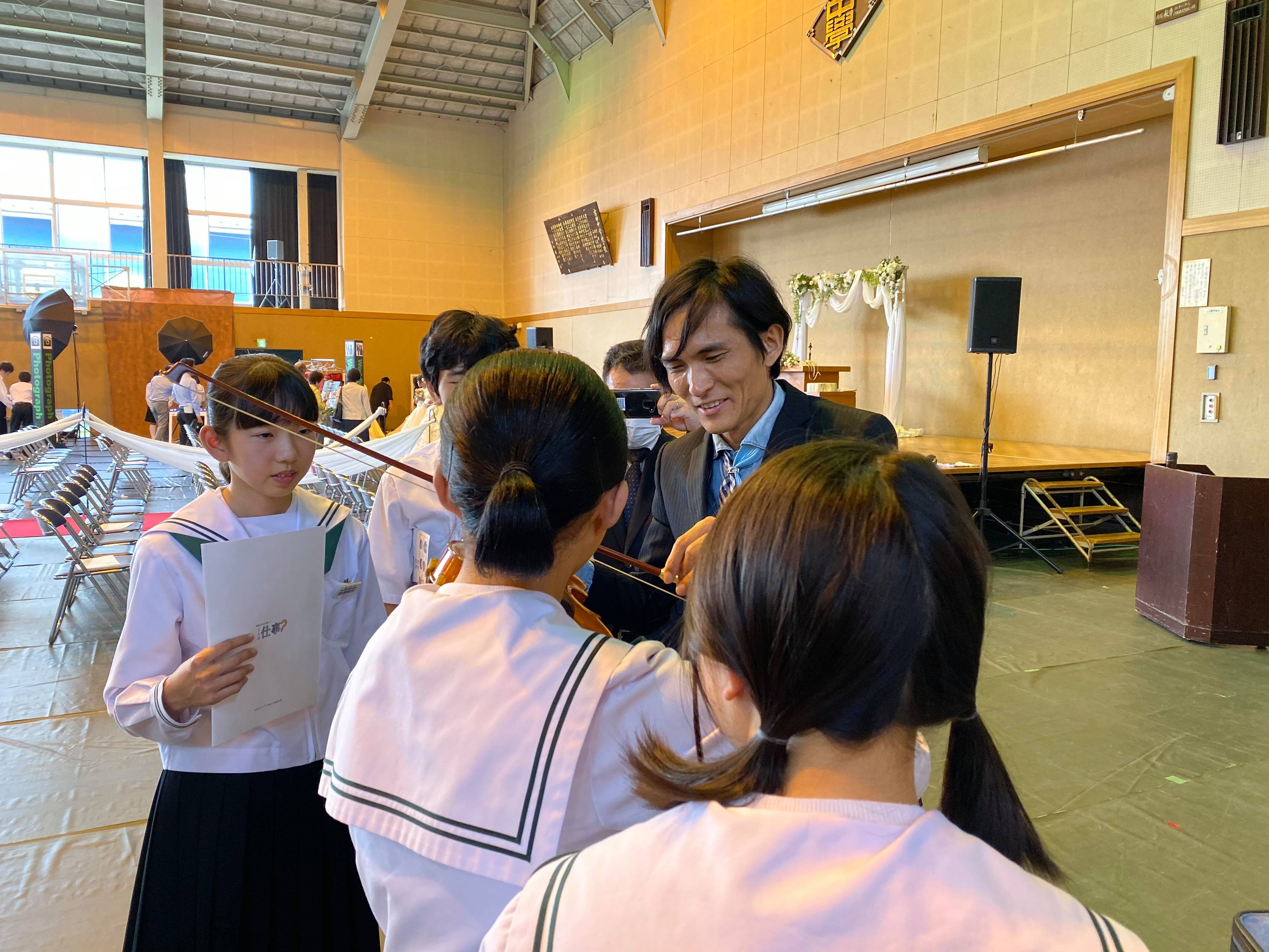 吉田中学校 学校ウエディング授業-9
