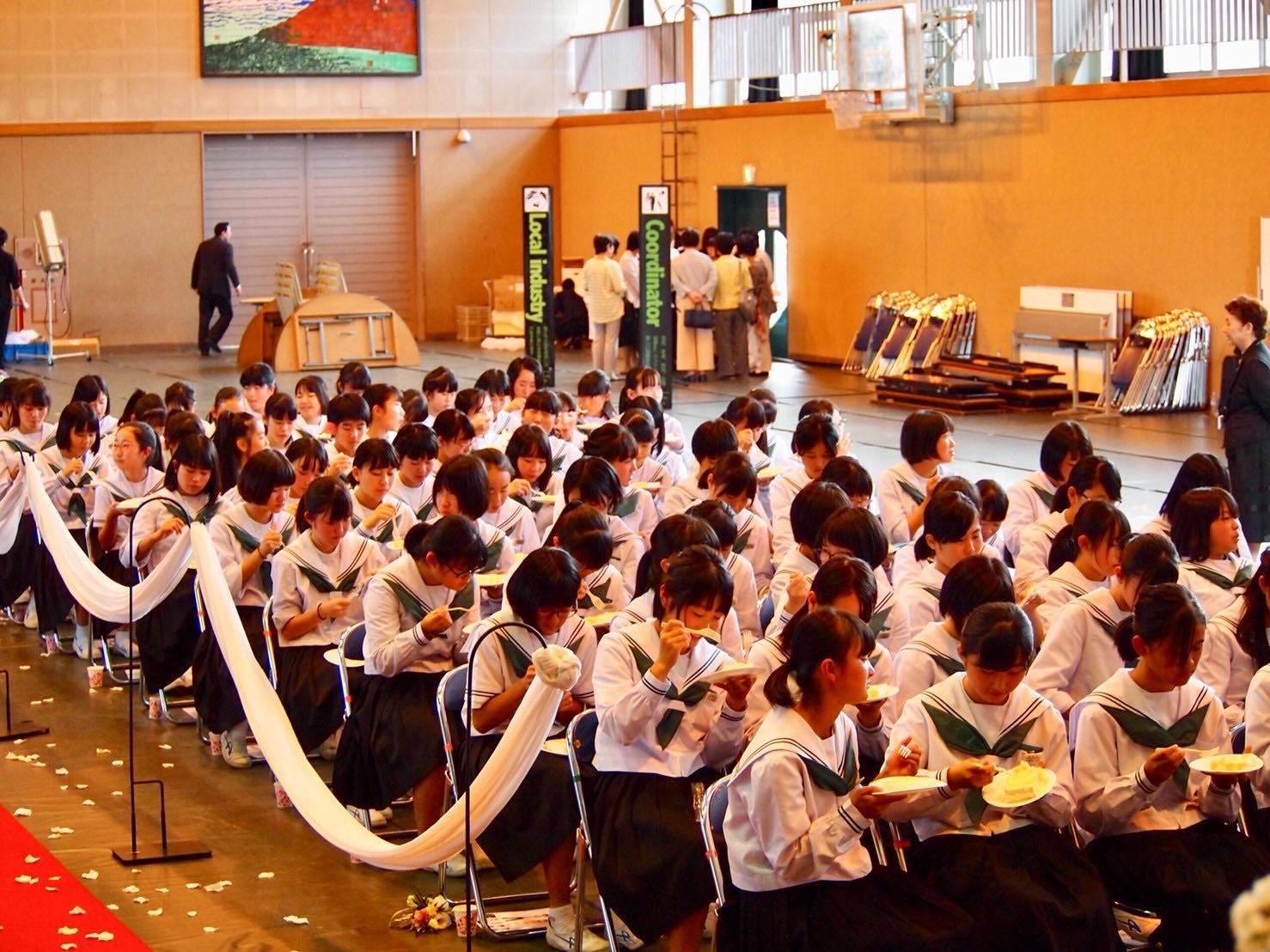 吉田中学校 学校ウエディング授業-1