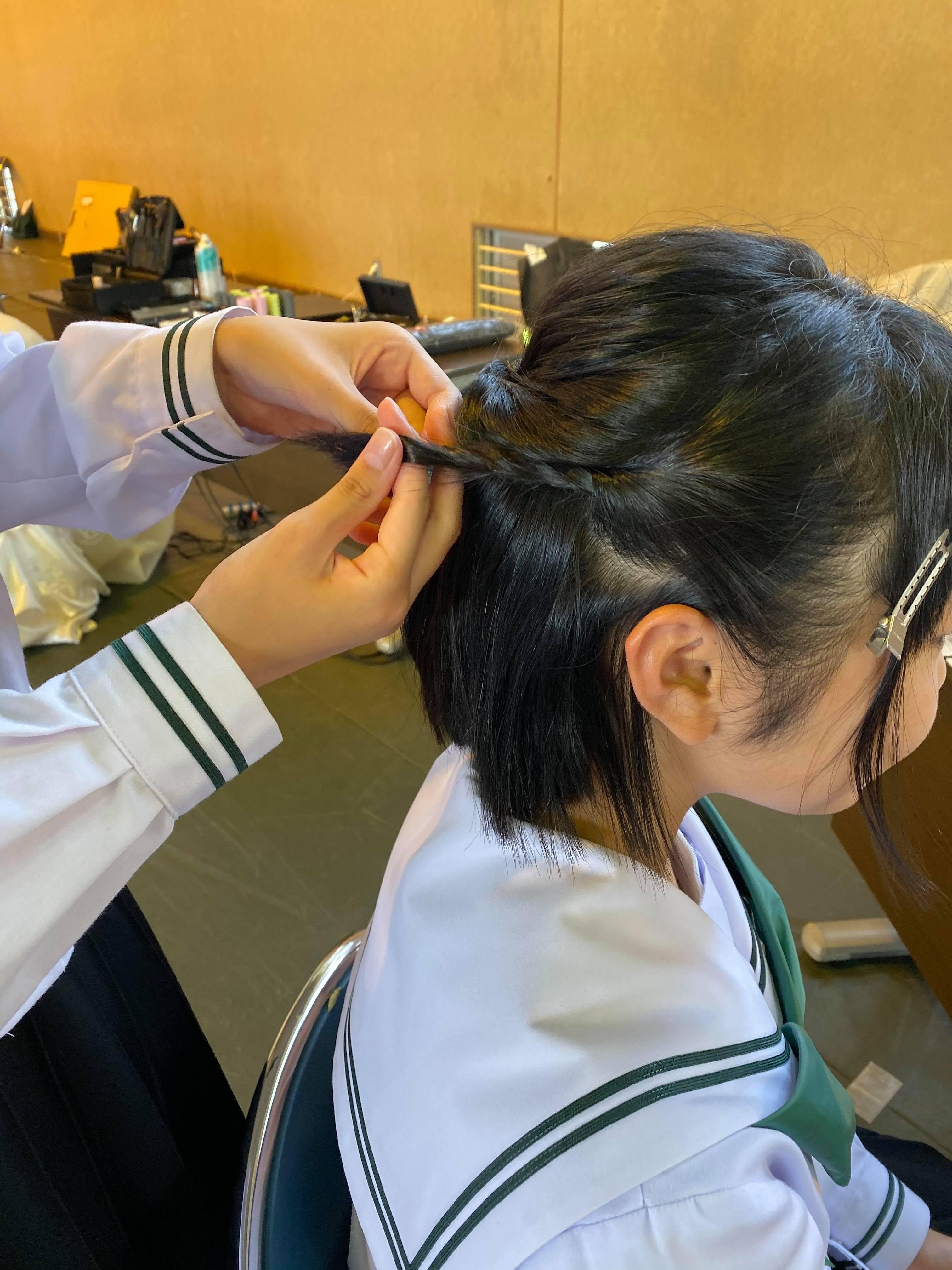 吉田中学校 学校ウエディング授業-15