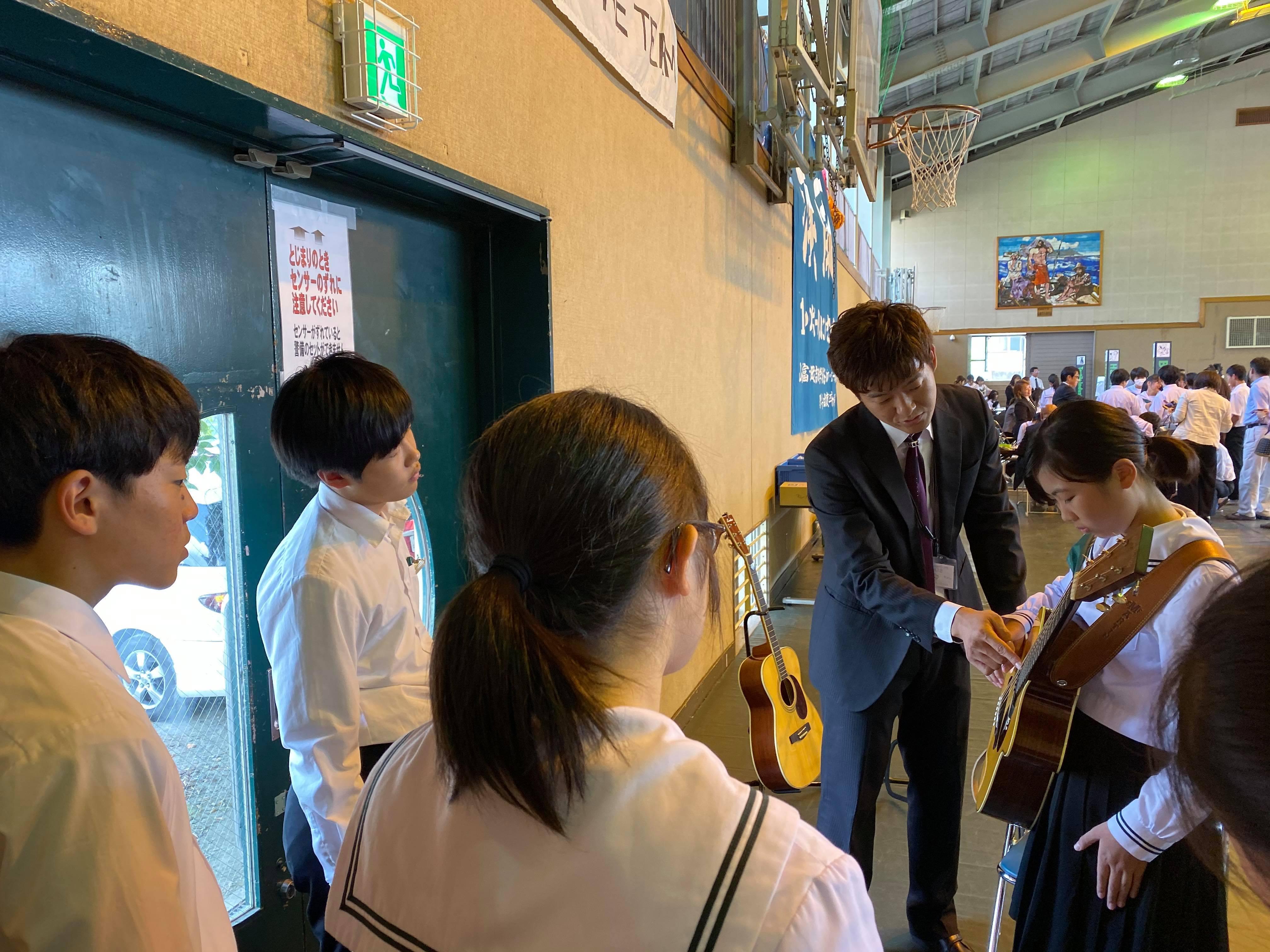 吉田中学校 学校ウエディング授業-11