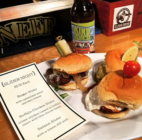 $3 Sliders and beer specials!