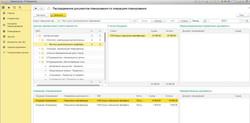 Распределение документов планирования по операциям планирования в разрезе ЦФО