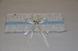 Blue and Ivory Garter