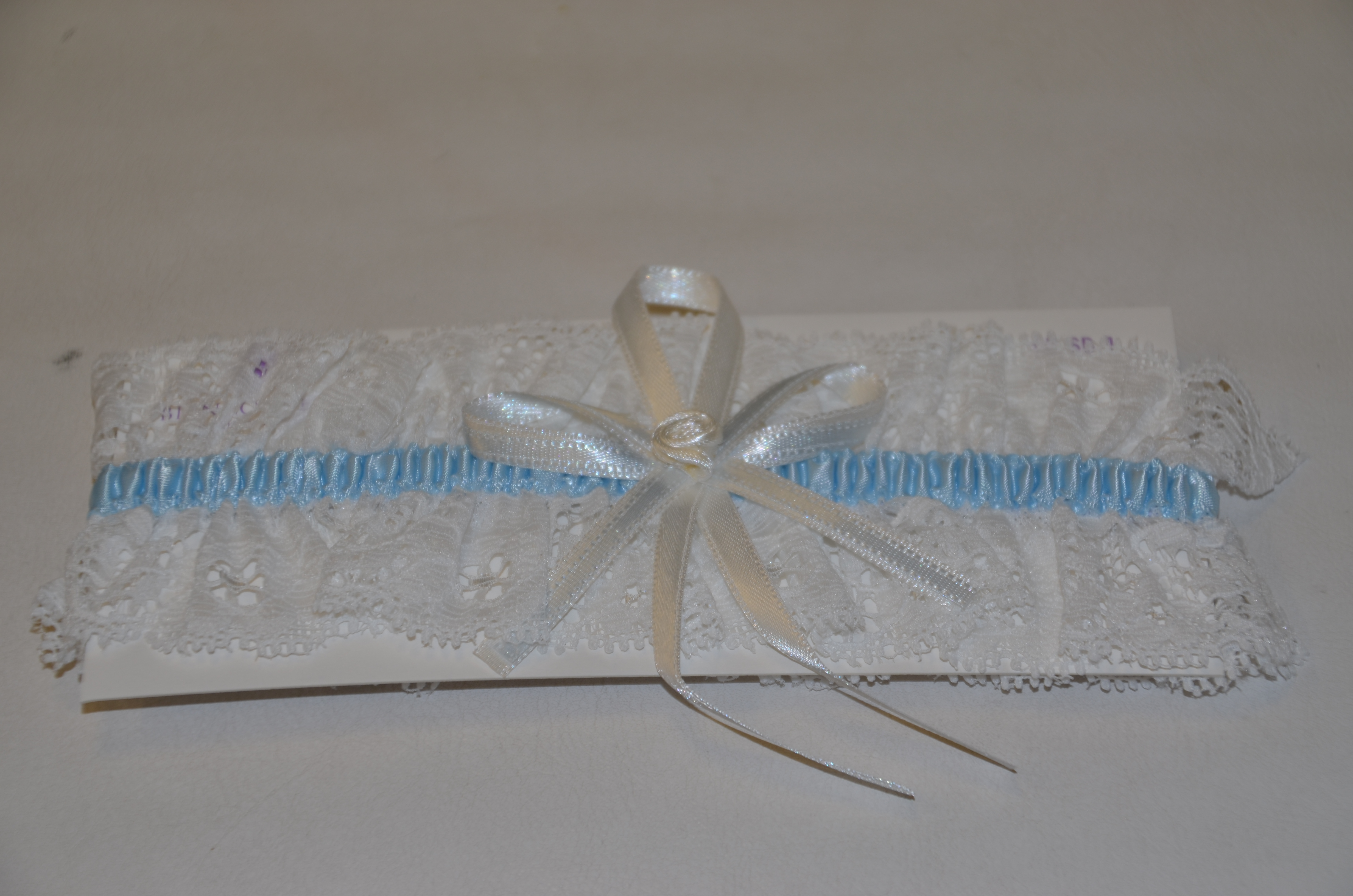 Ivory and Blue Garter
