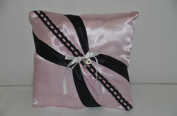 Pink and Black Ring Cushion
