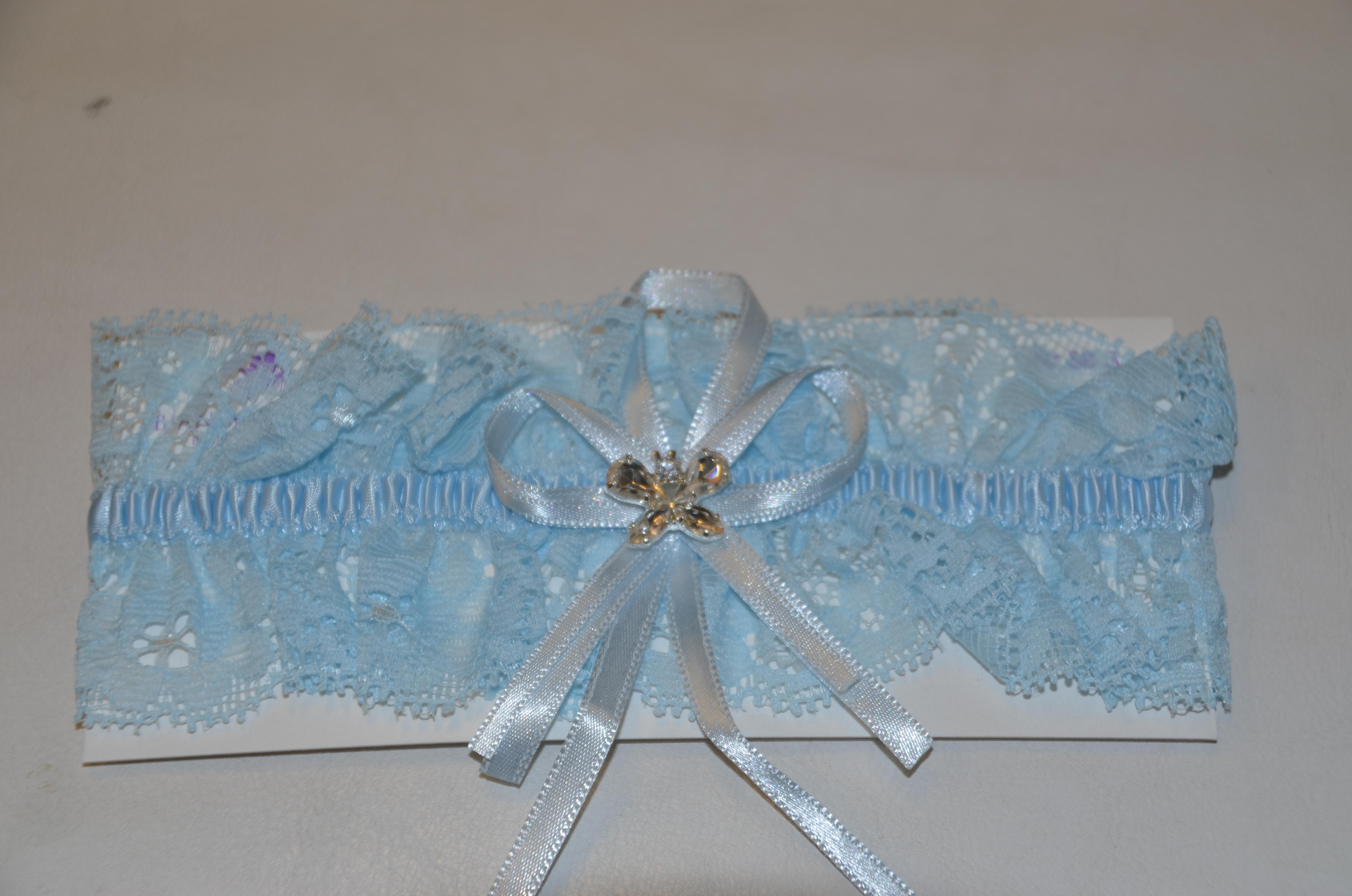 Blue Butterfly Garter