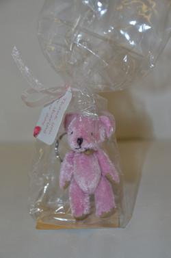 Pink Bear Keyring Gift