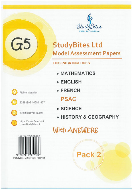 StudyBites - Model Assessment Papers Grade 5 -With Answers
