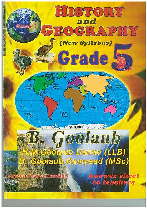 History & Geography Grade 5 - B.Goolaub