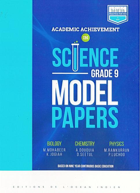 Academic Achievement in Science Grade 9 Model Papers Grade 9