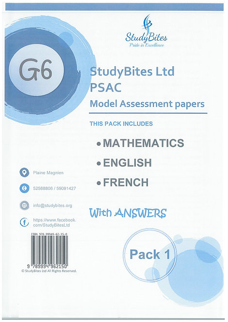 StudyBites -PSAC Model Assessment Papers - With Answers