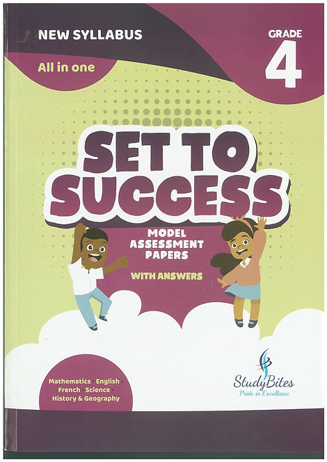 Set to Success Grade 4 - Mathematics/English/French/Science/History & Geography