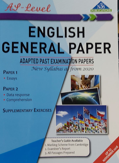 English General Paper Adapted Past Exam Papers New Syl 2020