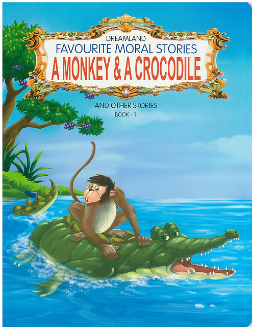 A Monkey & A Crocodile