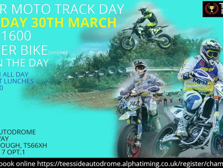 Another Opportunity to Take to the Track on Your Supermoto -Teesside 30th March