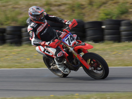 Todd Blazes to Five out of Six Wins at Round One of the British Supermoto Championship