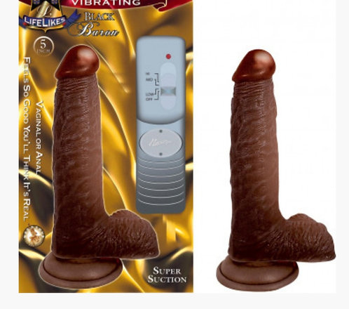 Lifelike Vibrating Black Baron 5''