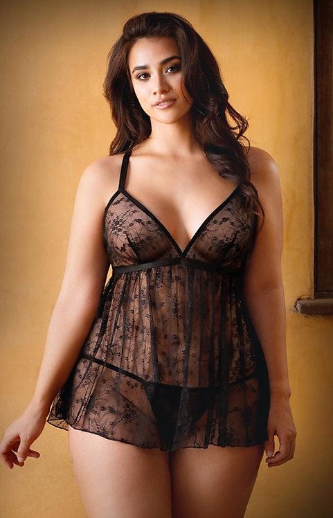 Elena Lace Babydoll & Matching Panty
