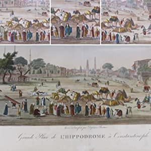 Hand-coloured copper engraving (1819) from the GRANDEST BOOK of VIEWS OF CONSTANTINOPLE.