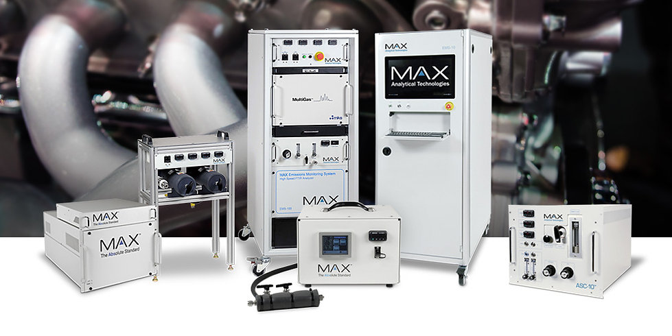 MAX Analytical is now deploying an easy-to-use, low maintenance EMS-10™ / EMS-100™ line of FTIR gas analyzers that allow the Engine and Engine Catalyst professional to monitor complex emissions in the 5 Hz to minute time regime.