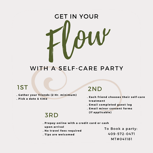 Self care party how to book.png