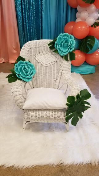 Child's White Chair
