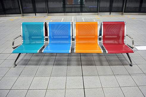 powder coated chairs in different colours