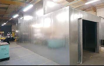 powder coating paintline entrance
