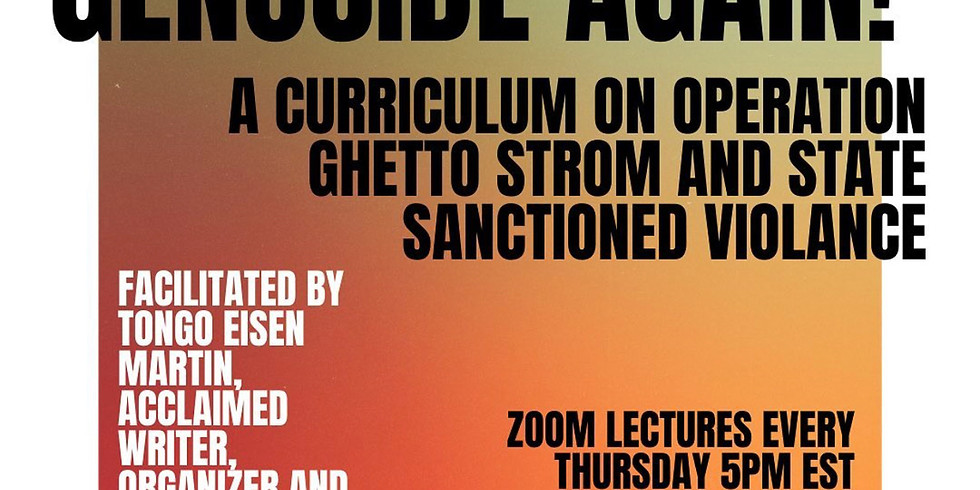 We Charge Genocide Again! Lecture by Tongo Eisen-Martin