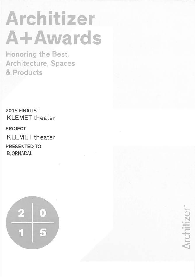 Architizer A+ Award