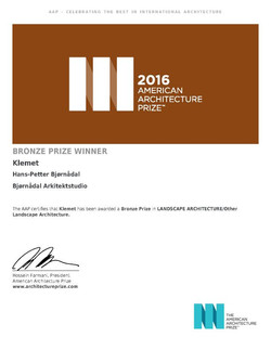 American Arcitecture Prize 2016