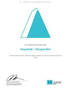 American Arcitecture Prize 2017
