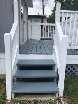 stairs to transitional home