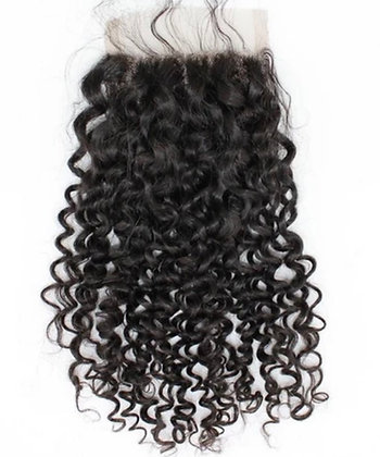 """RAW BURMESE LOOSE CURLY CLOSURE 20"""" *BACK ORDERED, ALLOW 14 DAYS TO SHIP OR P/U*"""