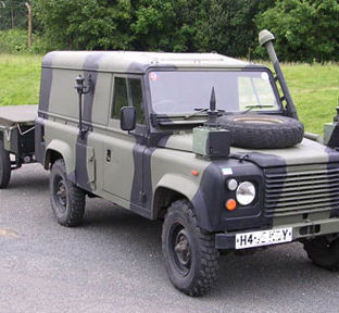 Ex-29 RMC Land Rover 110 FFR Wader 1991 owned by Martin Swift