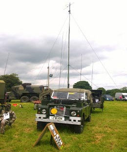 1975 Land Rover series 3 109 FFR 2225cc Petrol & Sankey Comms Trailer owned by Simon Shillabeer