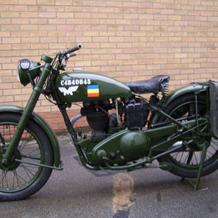 Matchless Motor Cycle G3L 1943 owned by Rowland Smallwood